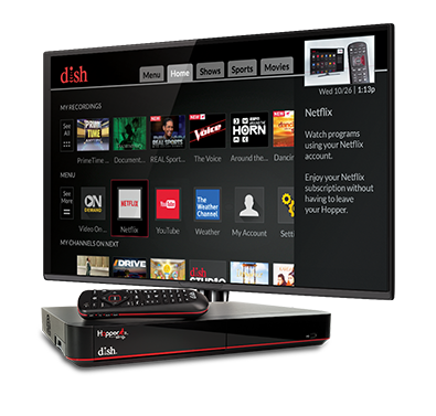 The Hopper - Voice remotes and DVR - Greenwood, MS - C B Satellite Service - DISH Authorized Retailer